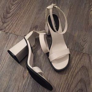 Comfy and Stylish white sandal heels